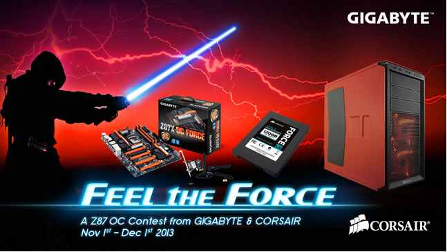 Feel the Force - konkurs Gigabyte, Corsair i portalu HWBOT w podkrecaniu