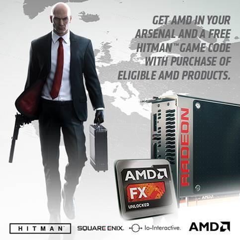 Gra Hitman za darmo z procesorami i kartami graficznymi AMD