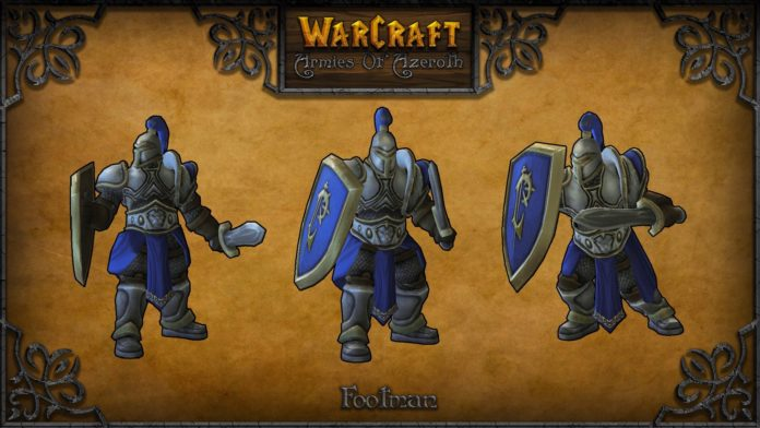 warcraft armies of azerot footman