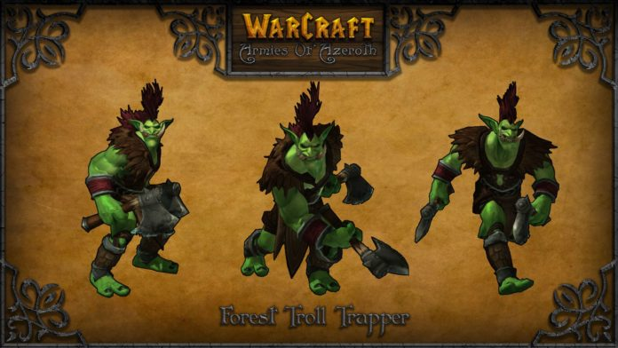 warcraft armies of azerot foresttroll trapper