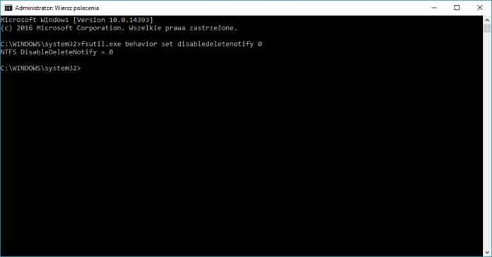 Windows - funkcja TRIM