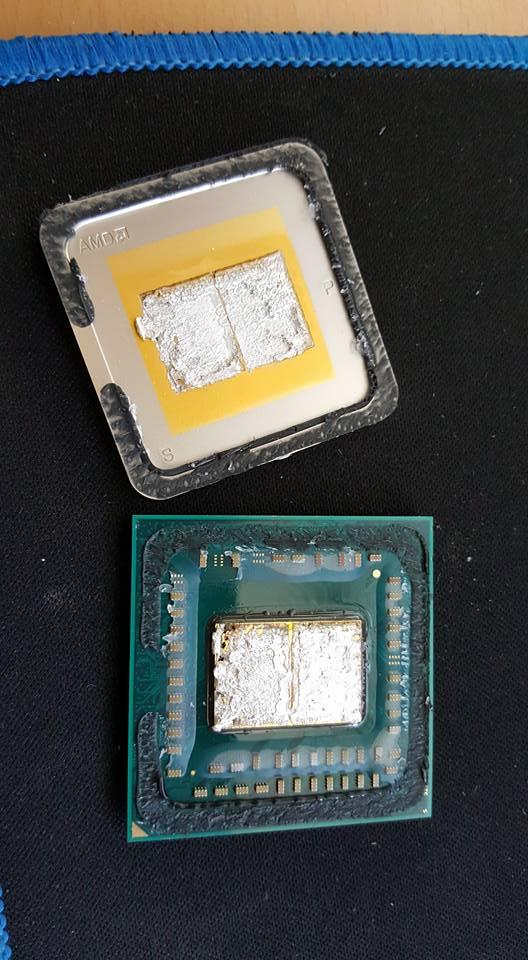 AMD Bristol Ridge z usuniętym rozpraszaczem ciepła