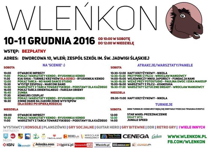 WleńKon 2016 - harmonogram
