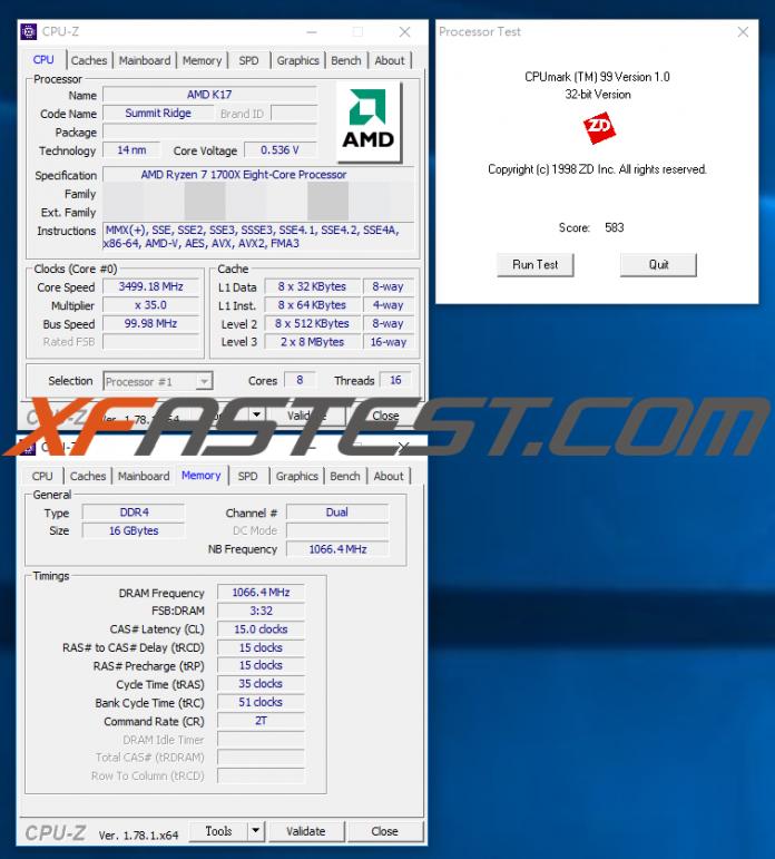 AMD Ryzen 7 1700X CPU-Z