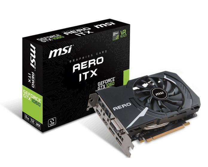 MSI GeForce GTX 1060 Aero ITX 3G