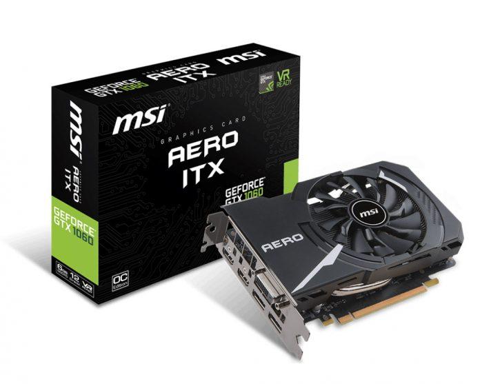 MSI GeForce GTX 1060 Aero ITX 6G