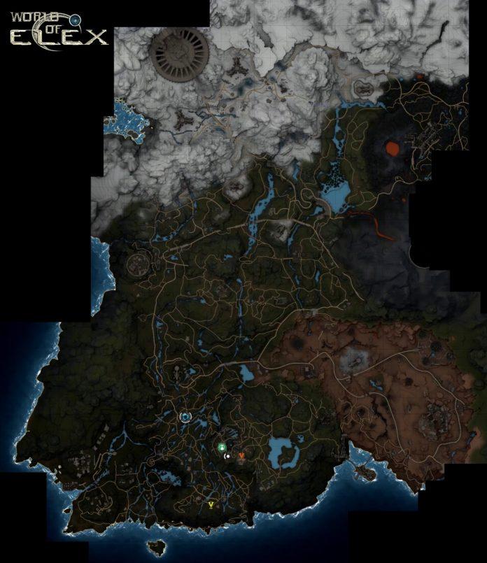 Elex - mapa świata