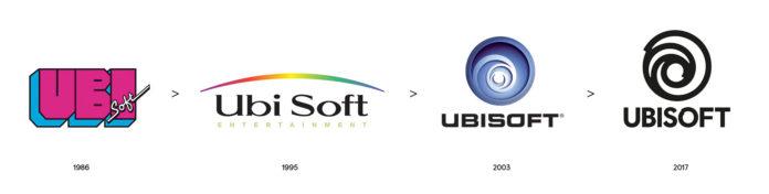 Ubisoft - ewolucja loga