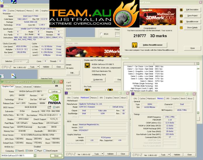 TeamAU 3DMARK2001