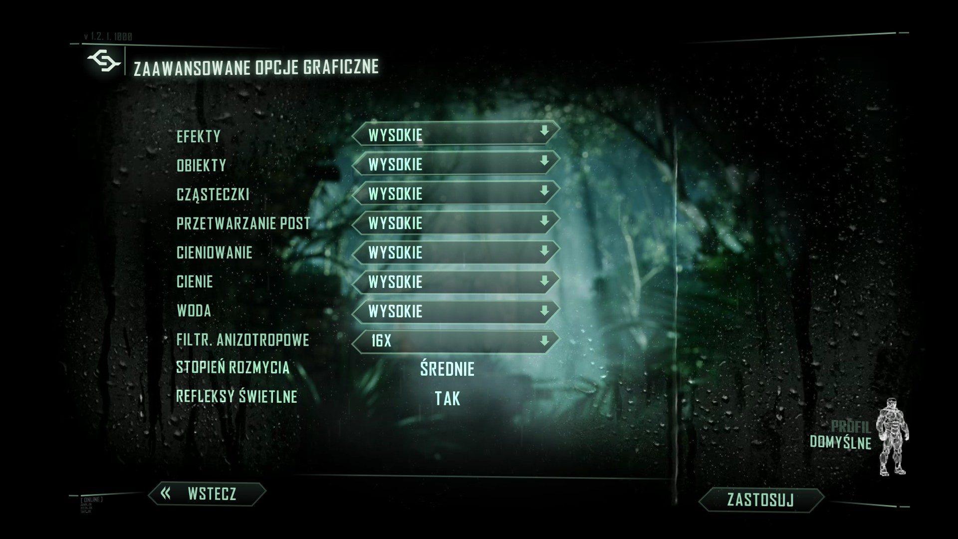 Crysis 3 - ustawienia graficzne