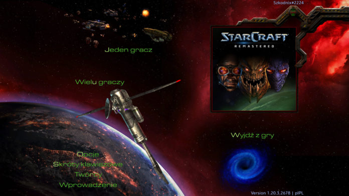 Starcraft Remastered - menu główne