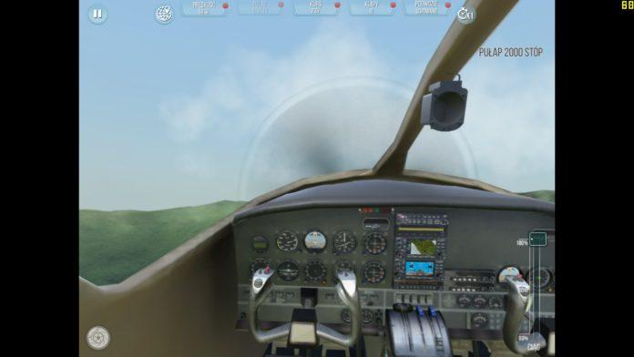 take off the flight simulator 1