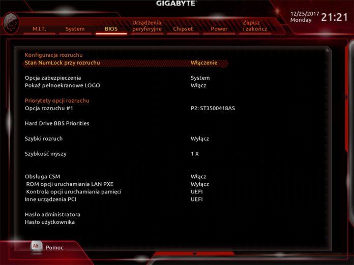 GIGABYTE Z370N WIFI - UEFI
