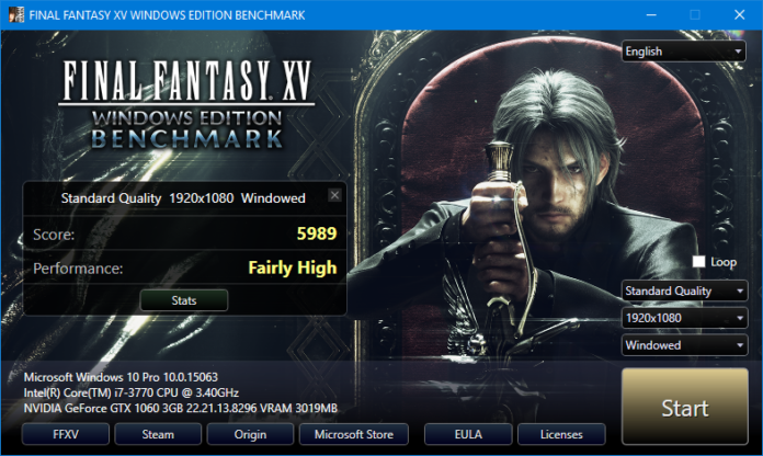 FINAL FANTASY XV WINDOWS EDITION - benchmark