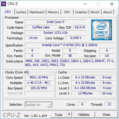 Intel Core i7-8700 - test 12 wątkowego procesora dla każdego 1