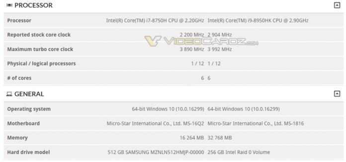 Intel Core-i9 8950HK
