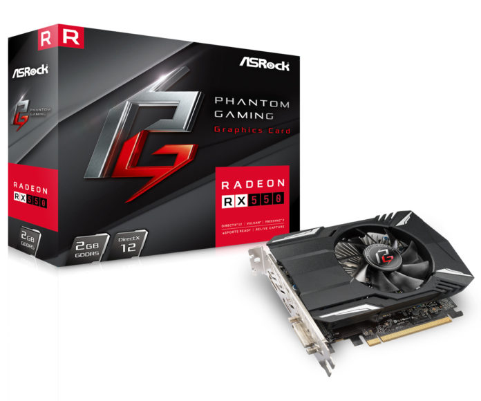 ASRock Phantom Gaming Radeon RX 550 2G
