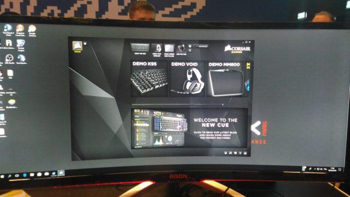 IEM Katowice 2018 - stoisko Corsair i AOC Gaming - AOC AG352UCG6 Black Edition