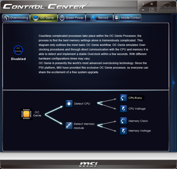 MSI Z77IA-E53 - Control Center