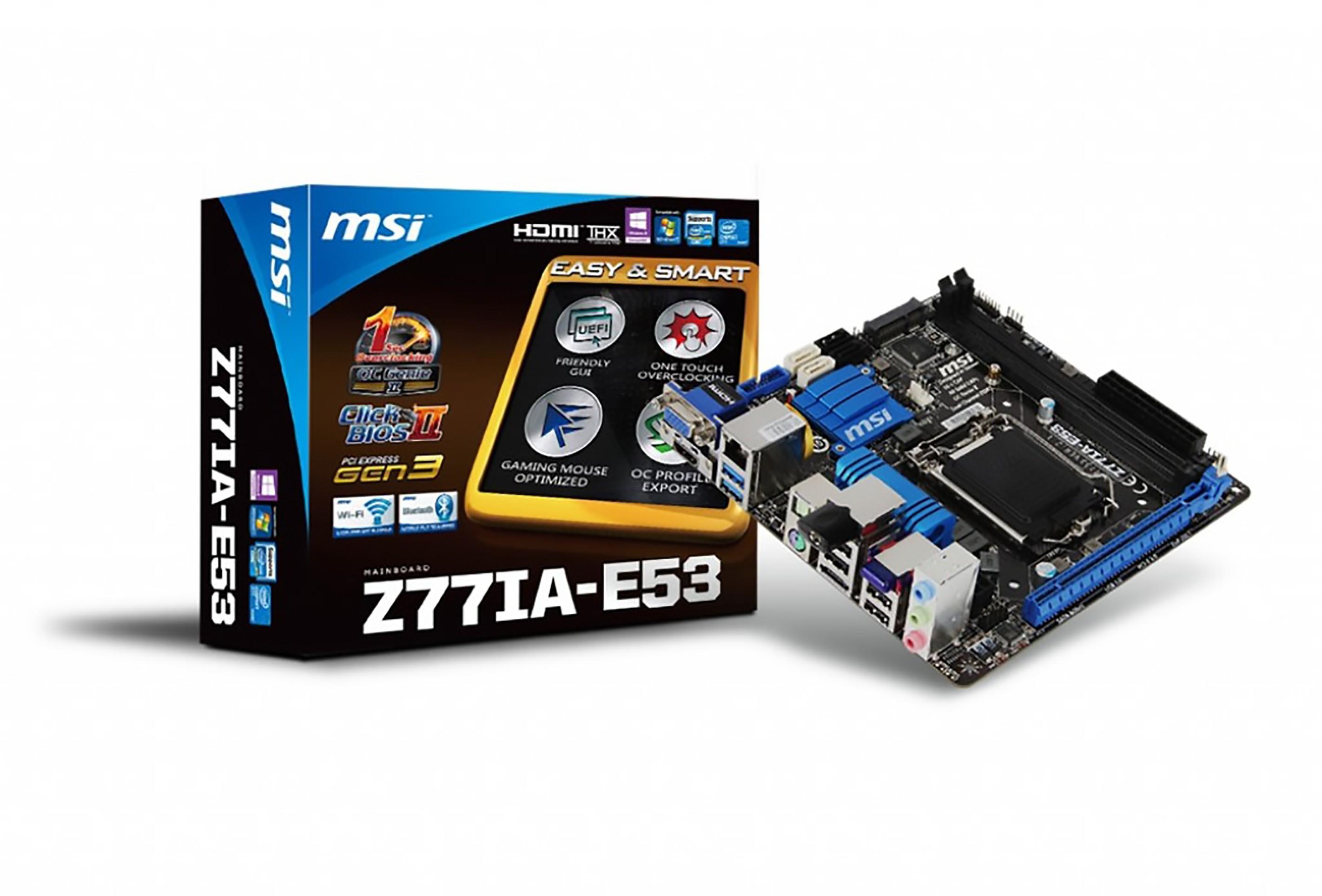 MSI Z77IA-E53 - stara ale jara płyta główna mini-ITX 1