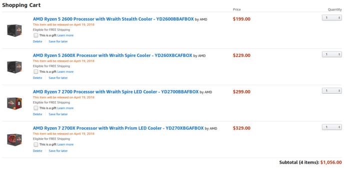 AMD Ryzen 2000 ceny