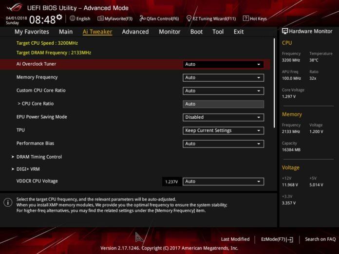 ASUS ROG STRIX X370-I GAMING - UEFI