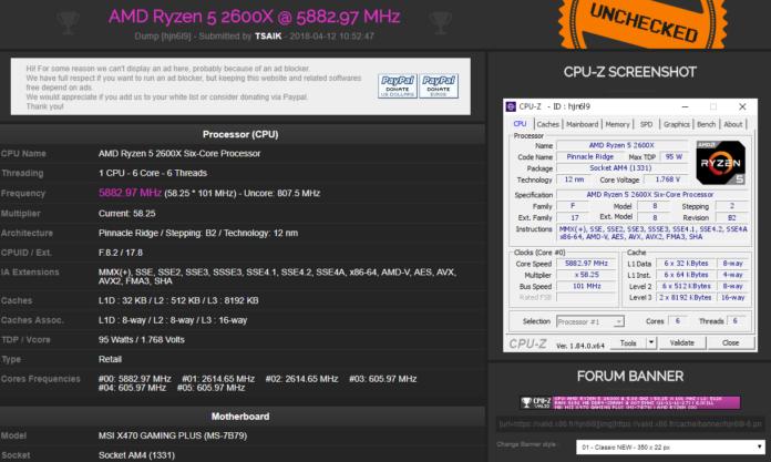 Ryzen 5 2600X OC