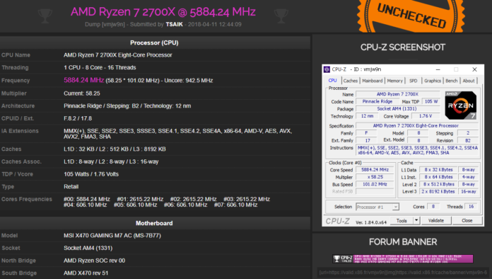 Ryzen 7 2700X OC