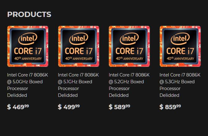 Core i7-8086K - Silicon Lottery
