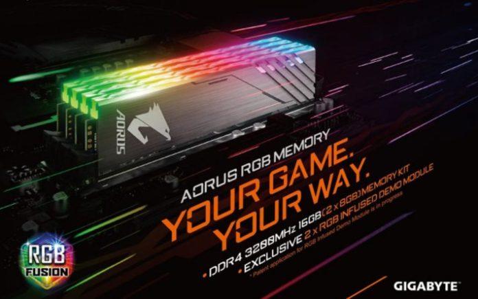 Gigabyte AORUS RGB LED RAM