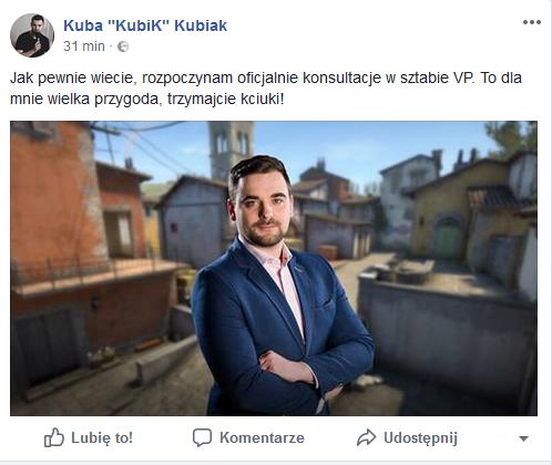 """Kuba """"Kubik"""" Kubiak w Virtus.pro jako analityk 1"""
