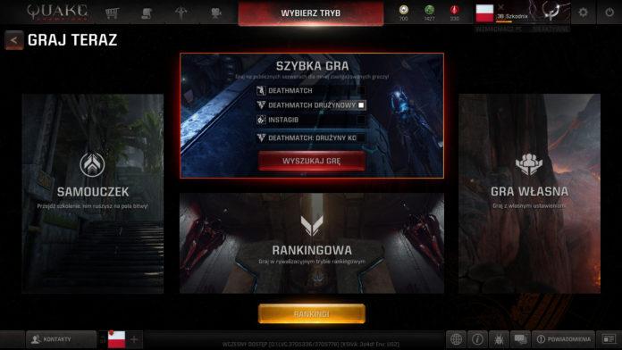Sierpniowa aktualizacja do Quake Champions już na serwerach 4