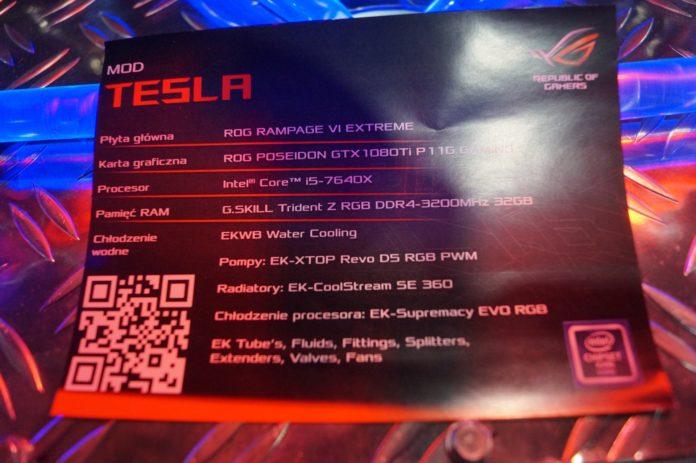 Poznań Game Arena 2018 - komputer MOD Tesla