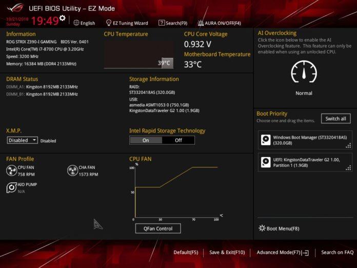 ASUS ROG STRIX Z390-I GAMING - UEFI