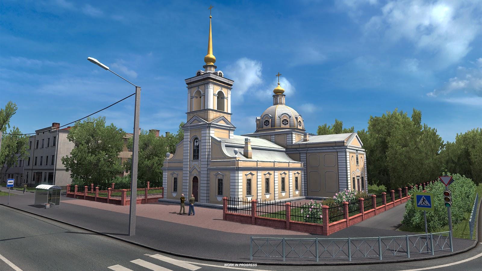 Beyond the Baltic Sea - miasto Petersburg w grze ETS 2