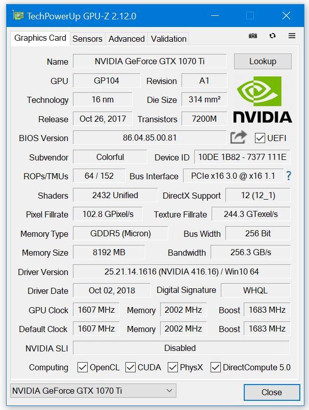 GPU-Z 2.12.0