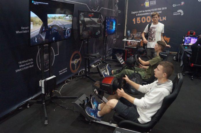 Poznań Game Arena 2018 - stoisko OPTIMUS iThrustmaster