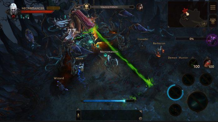 Diablo Immortal - walka z bossem