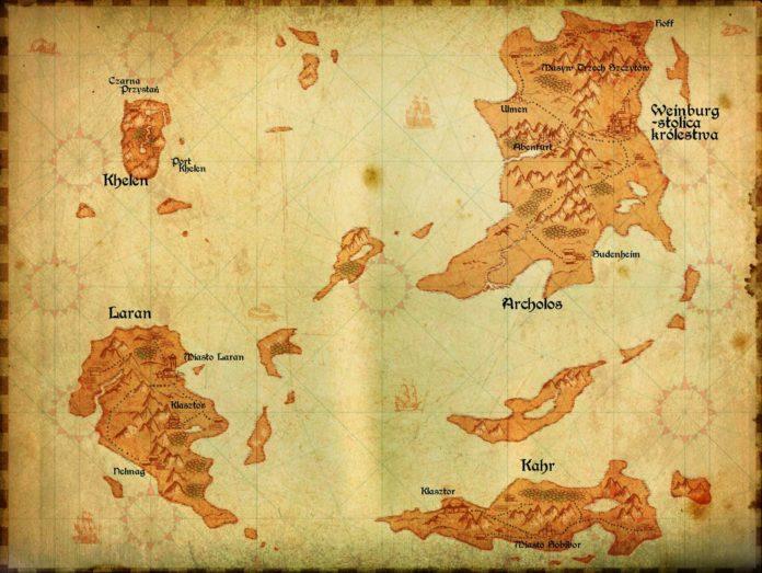 Gothic II Żeglarze Burz - mapa