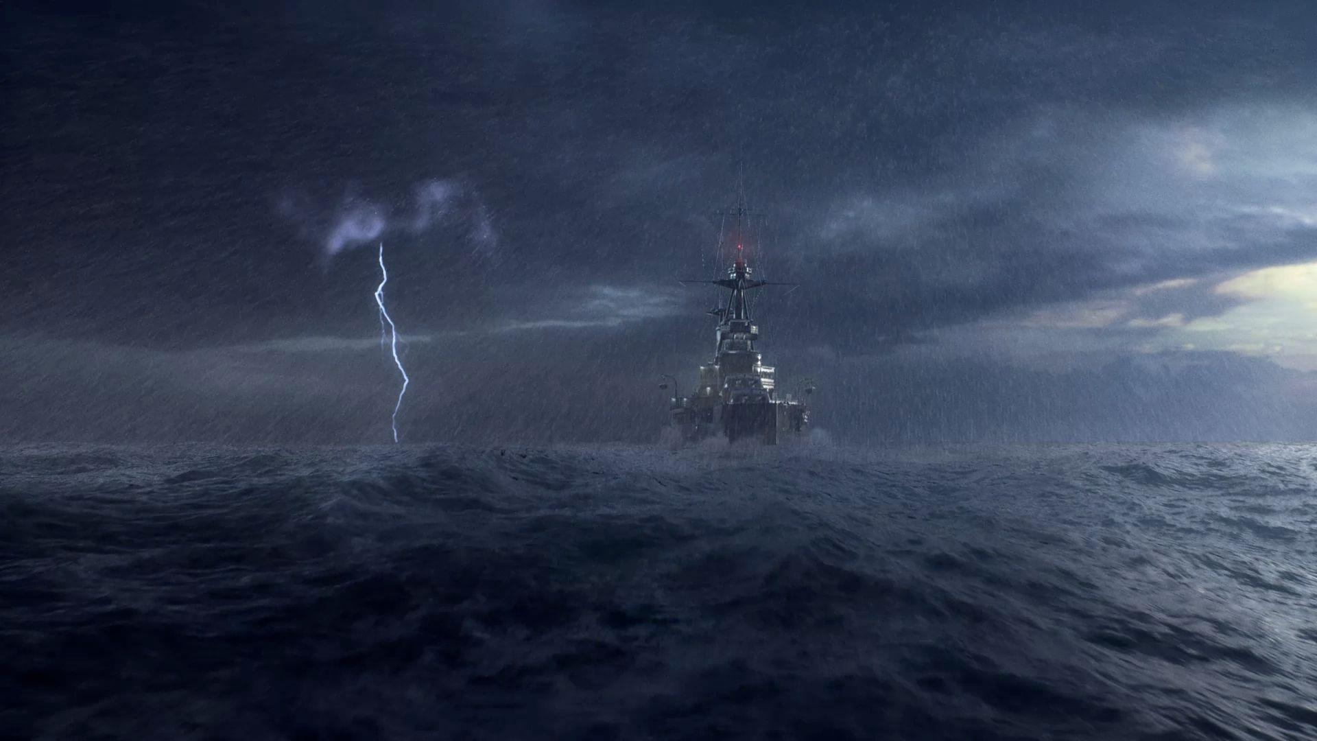 Battlefield V - okręt na morzu