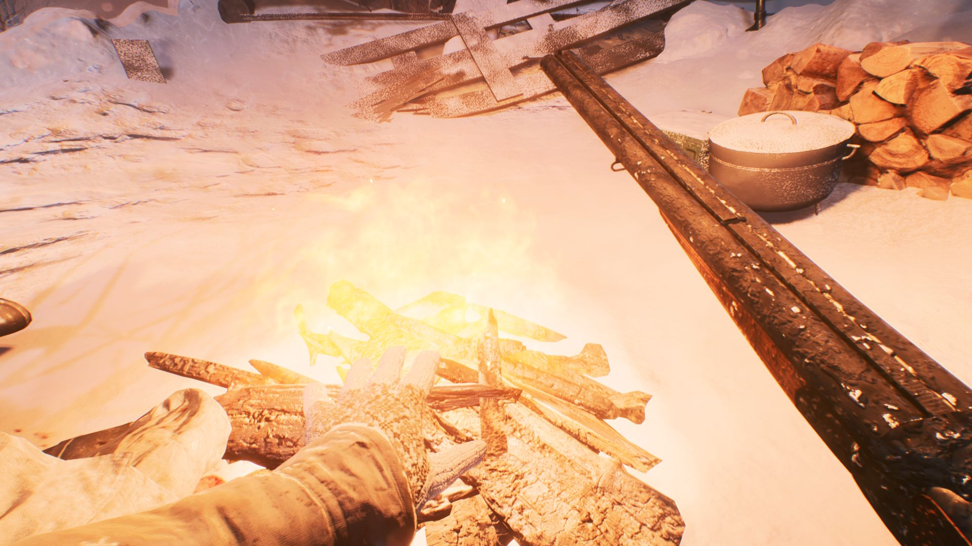 Battlefield V - ognisko