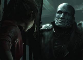Resident Evil 2 Remake - Claire Redfield walczy zzombie Tyrantem