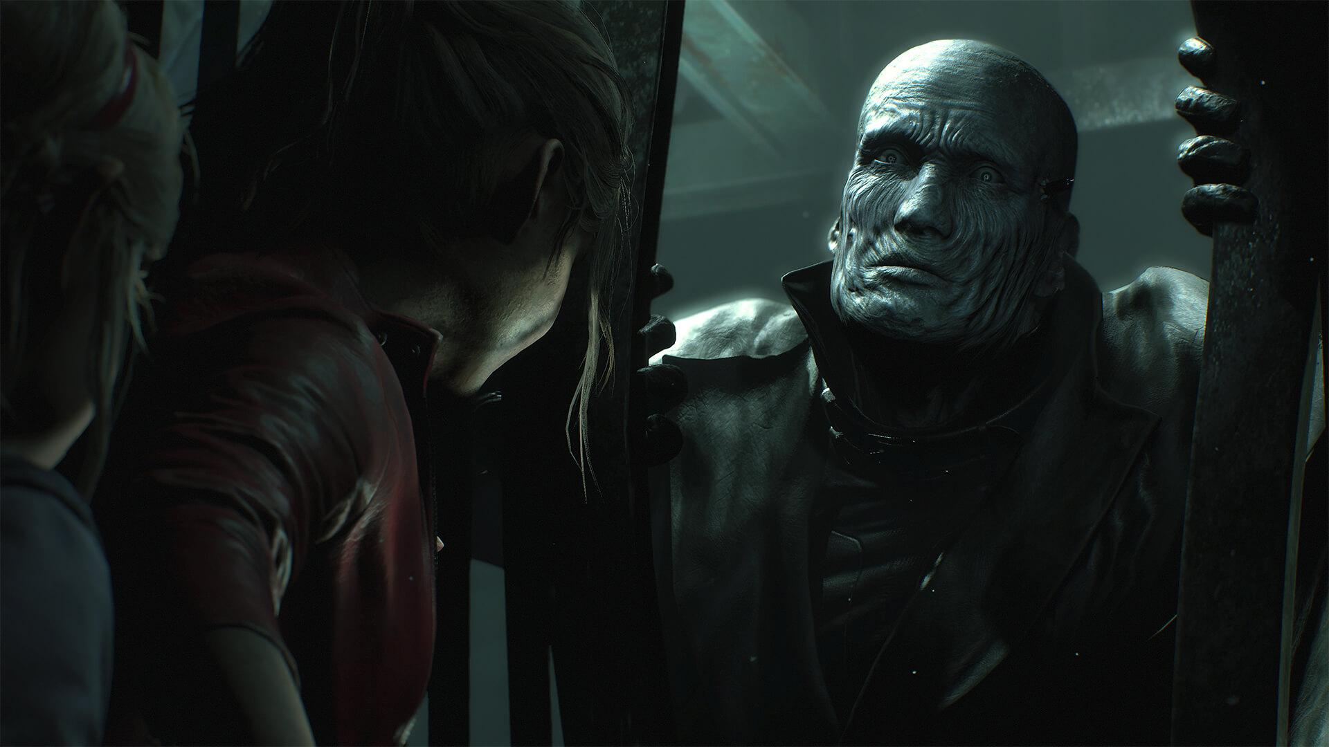 Resident Evil 2 Remake - Claire Redfield walczy z zombie Tyrantem