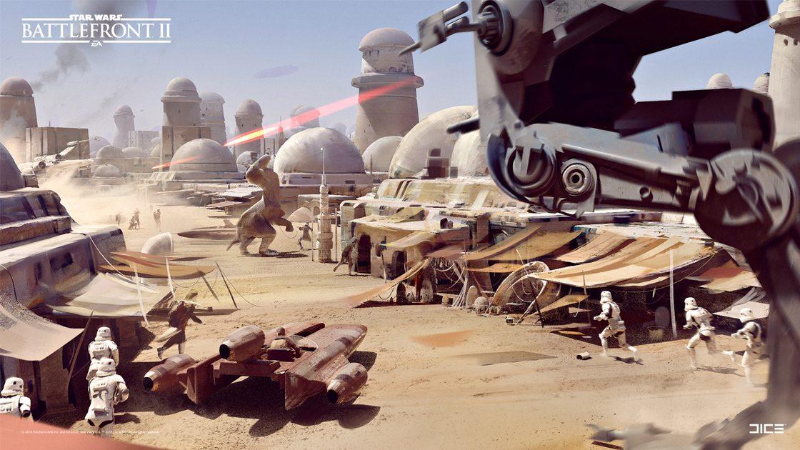 Grafiki koncepcyjne do Star Wars: Battlefront II – czyli jak powstały piękne krajobrazy 2