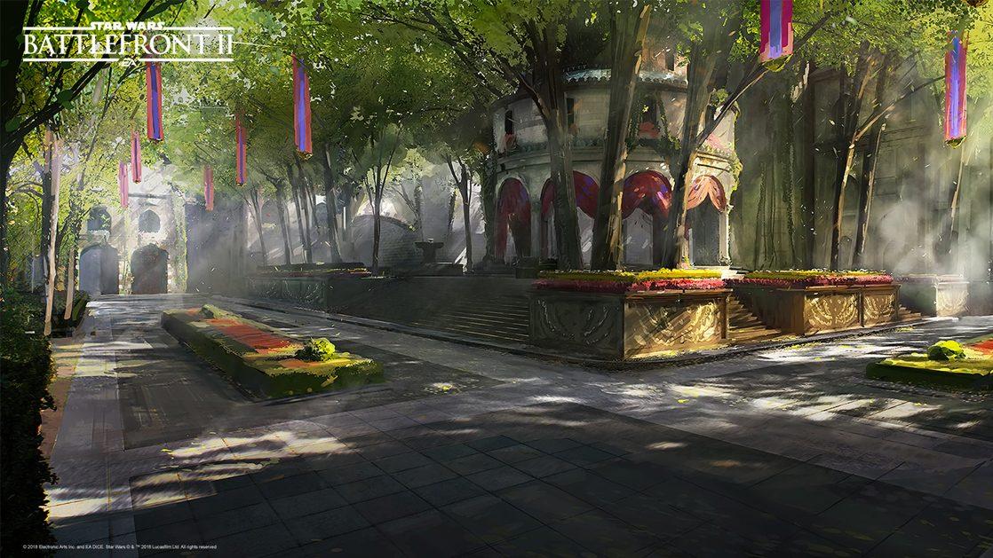 Grafiki koncepcyjne do Star Wars: Battlefront II – czyli jak powstały piękne krajobrazy 5