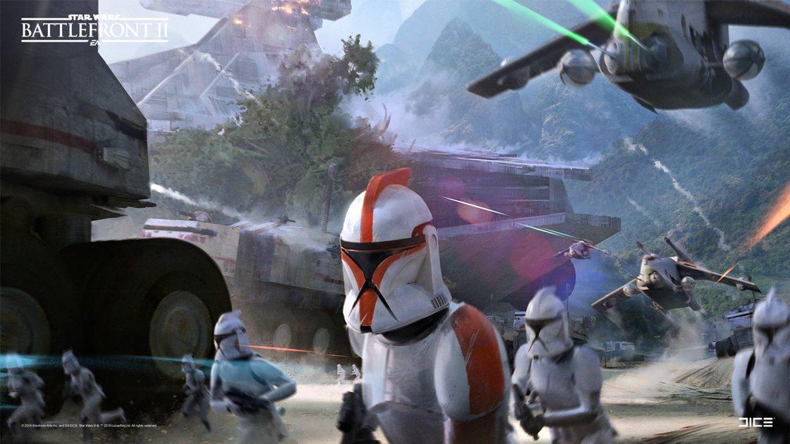 Grafiki koncepcyjne do Star Wars: Battlefront II – czyli jak powstały piękne krajobrazy 6