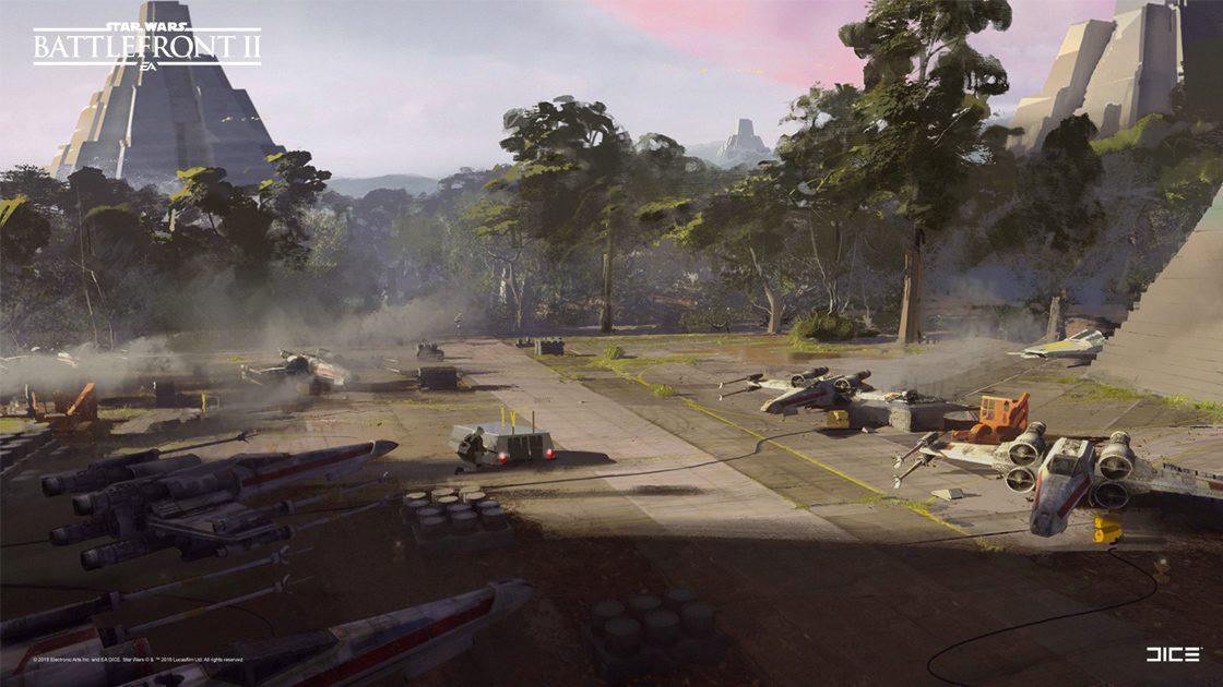 Grafiki koncepcyjne do Star Wars: Battlefront II – czyli jak powstały piękne krajobrazy 8