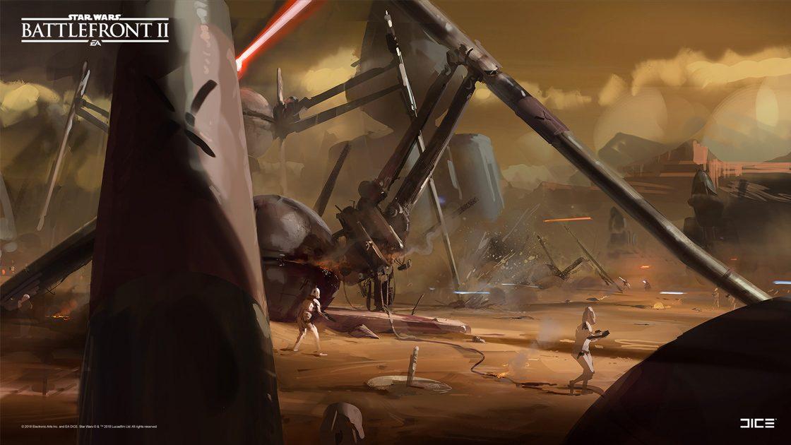 Grafiki koncepcyjne do Star Wars: Battlefront II – czyli jak powstały piękne krajobrazy 7