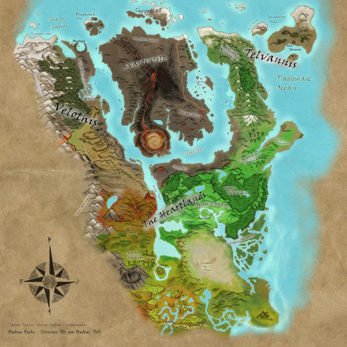 Morrowind - mapa
