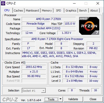 BIOSTAR RACING X370GTN - CPU-Z